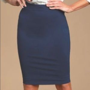 Ann Taylor The Loft blue gray skirt